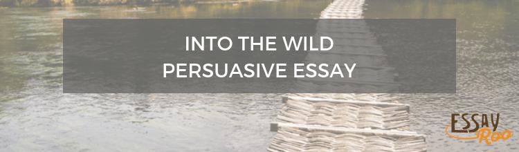 Into the wild persuasive essay